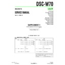 Sony DSC-W70 (serv.man7) Service Manual