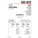 Sony DSC-W70 (serv.man8) Service Manual