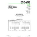 Sony DSC-W70 (serv.man9) Service Manual