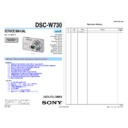 Sony DSC-W730 (serv.man2) Service Manual
