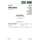 Sony DSC-W90 (serv.man11) Service Manual