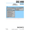 Sony DSC-W90 (serv.man15) Service Manual