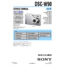 Sony DSC-W90 (serv.man2) Service Manual