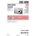 Sony DSC-W90 (serv.man3) Service Manual
