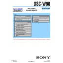 Sony DSC-W90 (serv.man4) Service Manual