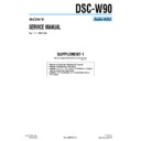 Sony DSC-W90 (serv.man5) Service Manual