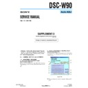 Sony DSC-W90 (serv.man7) Service Manual