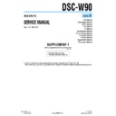 Sony DSC-W90 (serv.man8) Service Manual