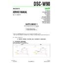 Sony DSC-W90 (serv.man9) Service Manual