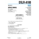 DSLR-A100 (serv.man4) Service Manual