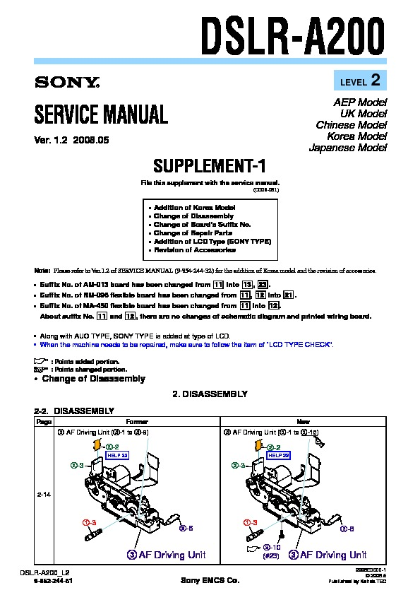 sony dslr a200 service manual free download rh servicemanuals us Sony A200 Specs sony alpha dslr a200 service manual