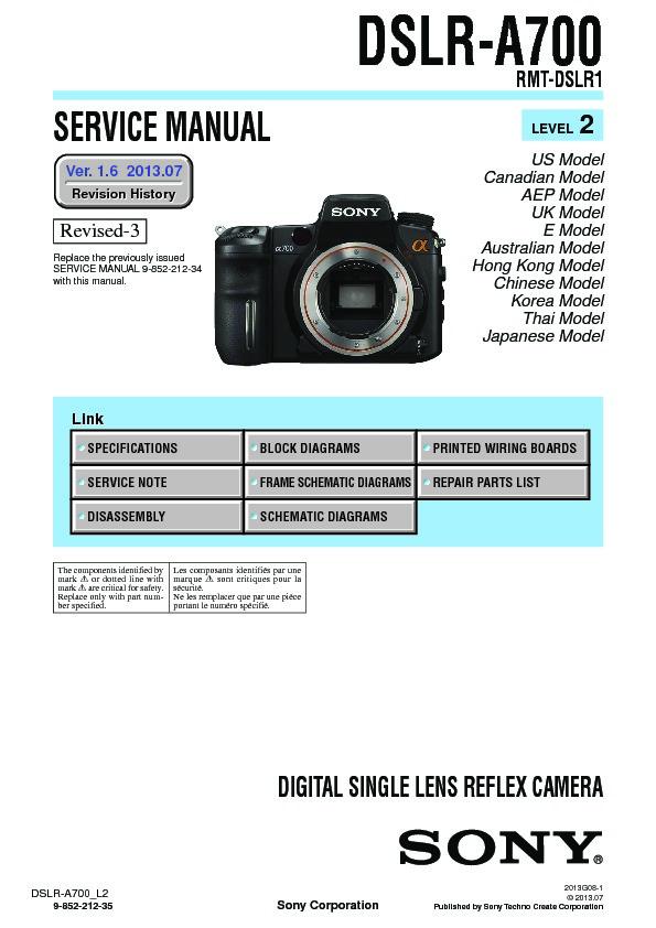 sony dslr a700 service manual free download rh servicemanuals us revox a700 service manual pdf revox a700 service manual pdf
