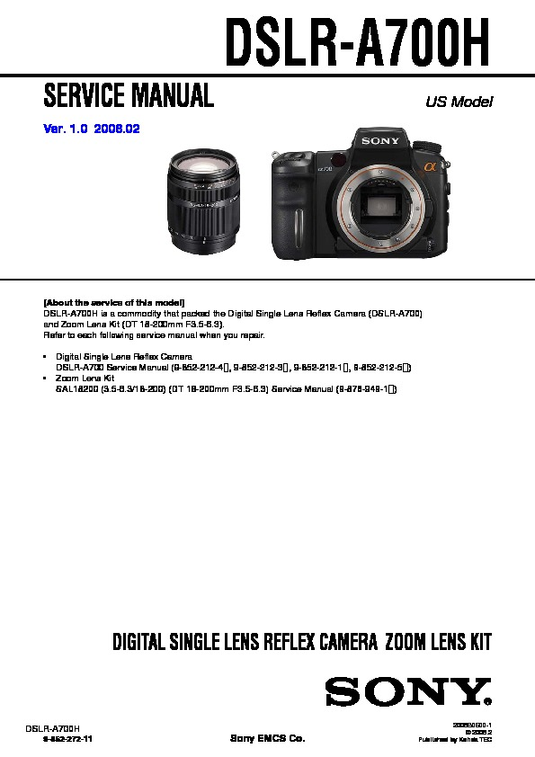 sony digital camera service manuals page 71 rh servicemanuals us Sony 700 On Tripod sony a700 service manual pdf