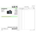 Sony ILCE-7S Service Manual