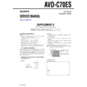 Sony AVD-C70ES (serv.man3) Service Manual