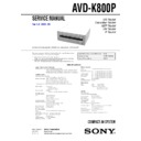 Sony AVD-K800P, HT-C800DP Service Manual