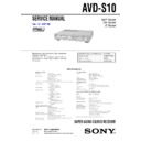 Sony AVD-S10 Service Manual