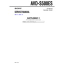 Sony AVD-S500ES (serv.man2) Service Manual