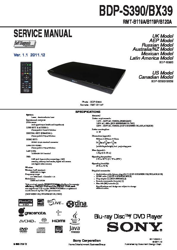 sony bdp s560 manual pdf