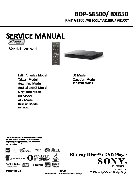 sony bdp bx650 bdp s6500 service manual free download rh servicemanuals us Service ManualsOnline samsung s6500 service manual