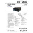 Sony BDP-CX960 Service Manual
