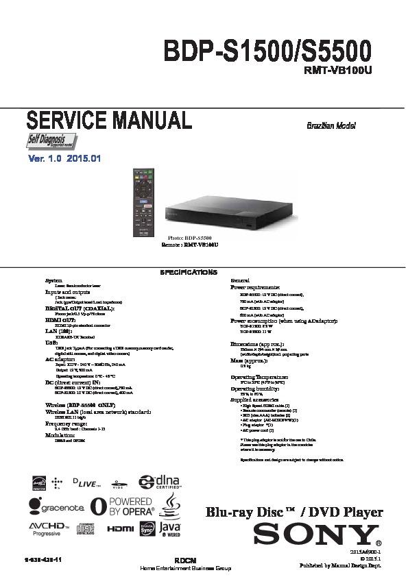dezoner sony bdp s185 manual