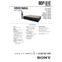 Sony BDP-S1E (serv.man2) Service Manual