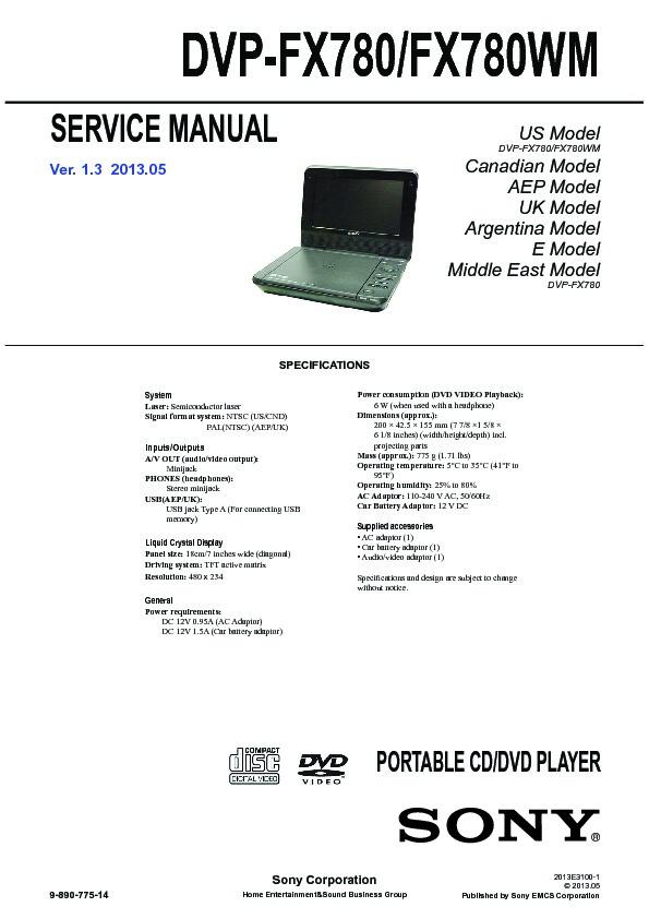 sony dvp fx780 service manual free download rh servicemanuals us Apex DVD Manual power acoustik dvd player manual