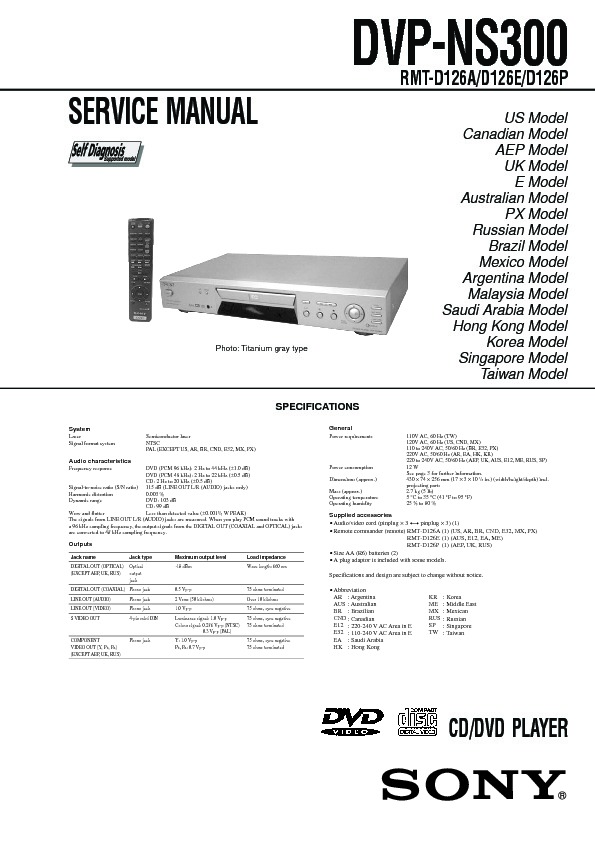 sony dvp sr200p manual pdf