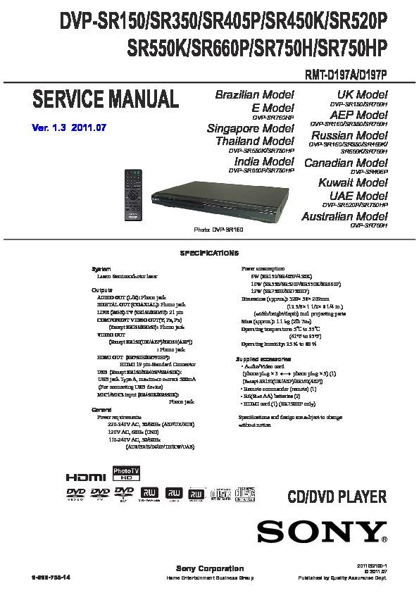sony dvp sr150 dvp sr350 dvp sr405p dvp sr450k dvp sr520p dvp rh servicemanuals us DVD Recorder VHS Combo Player DVD Recorder VHS Combo Player