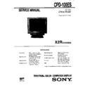 Sony CPD-100ES (serv.man5) Service Manual