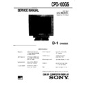 Sony CPD-100GS Service Manual