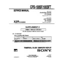 Sony CPD-100SF, CPD-100SFT (serv.man3) Service Manual