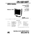 Sony CPD-100SF, CPD-100SFT Service Manual