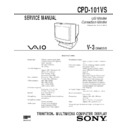Sony CPD-101VS Service Manual