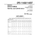 Sony CPD-110EST, CPD-110GS (serv.man2) Service Manual