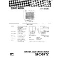 Sony CPD-1420S Service Manual