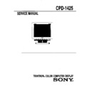 Sony CPD-1425 Service Manual