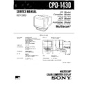 Sony CPD-1430 Service Manual