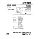 Sony CPD-15SF1 (serv.man2) Service Manual