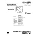 Sony CPD-15SF1 Service Manual