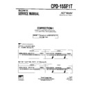 Sony CPD-15SF1T (serv.man3) Service Manual
