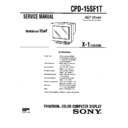 Sony CPD-15SF1T Service Manual