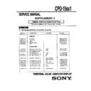 Sony CPD-15SX1 (serv.man2) Service Manual