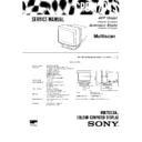 Sony CPD-1704S Service Manual