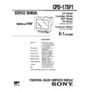 Sony CPD-17SF1 Service Manual