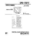 Sony CPD-17SF1T Service Manual