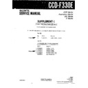 Sony CCD-F330E (serv.man3) Service Manual