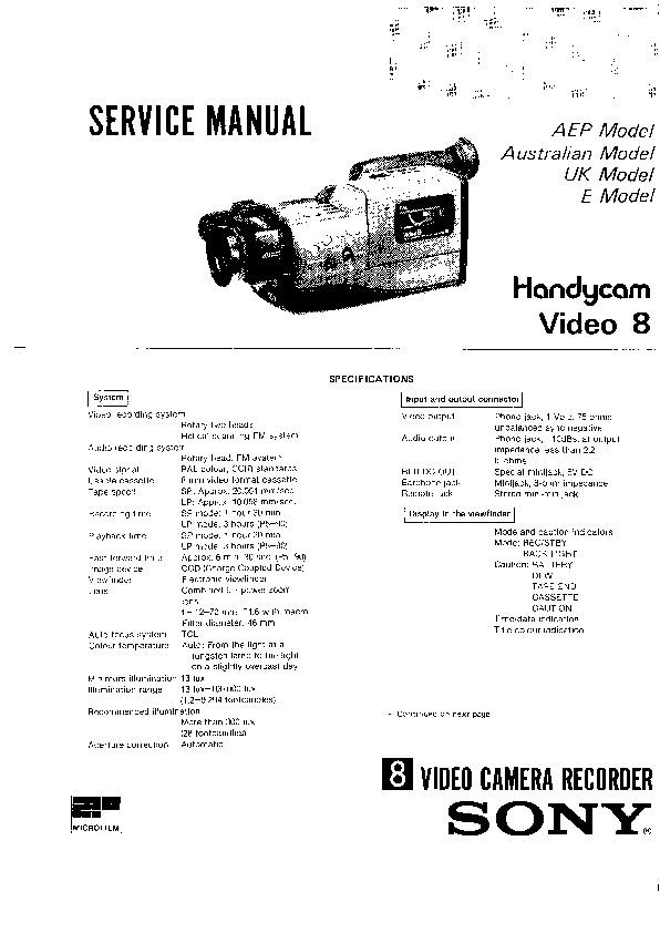 sony ccd-f330e service manual