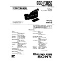 Sony CCD-F385E (serv.man2) Service Manual